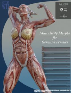 Muscularity Morphs for Genesis 8 Female(s)