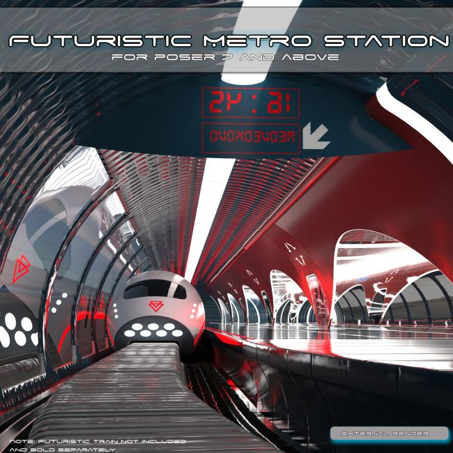 AJ Futuristic Metro Station