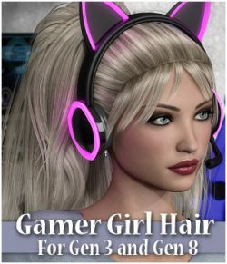 Gamer Girl Hair Gen 3 and Gen 8 Females