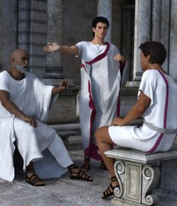 dForce Roman Toga and Tunic for Genesis 3 Male and Genesis 8 Male