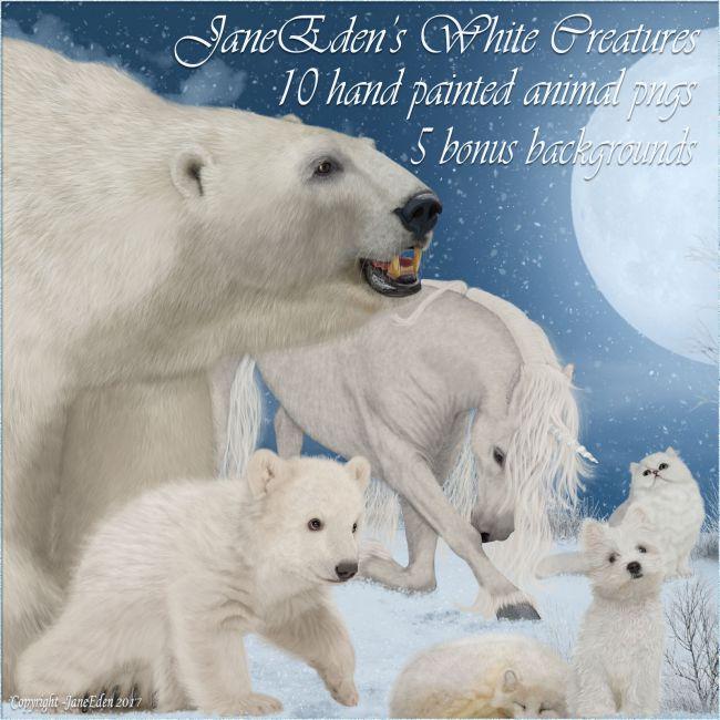 JaneEden's White Creatures