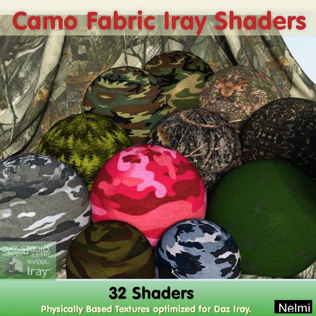 32 Camo Fabric Iray Shaders - Merchant Resource