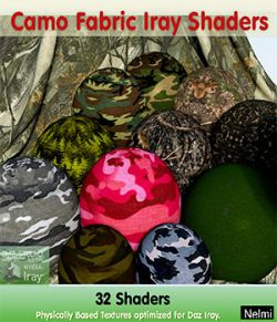 32 Camo Fabric Iray Shaders - Merchant Resource