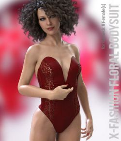 X-Fashion FloralLaces Bodysuit for Genesis 8 Females