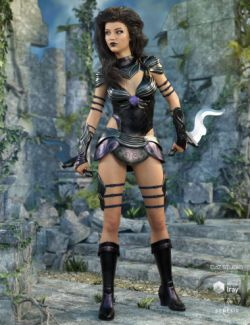 Gemini Warrior Outfit for Genesis 8 Female(s)