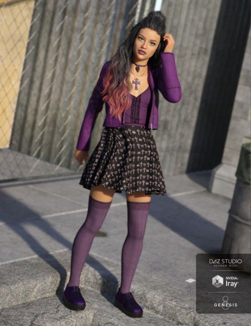 Pastel Goth Outfit for Genesis 8 Female(s)