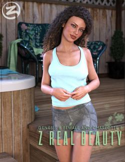 Z Real Beauty - Poses for Genesis 8 Female and Charlotte 8