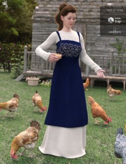 Peasant Dress for Genesis 8 Female(s)