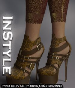 InStyle- Sylvia Heels and Pantyhose G8F
