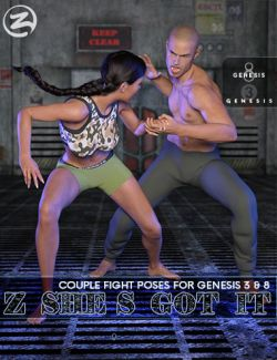 Z She's Got It - Combat Poses for Genesis 3 & 8
