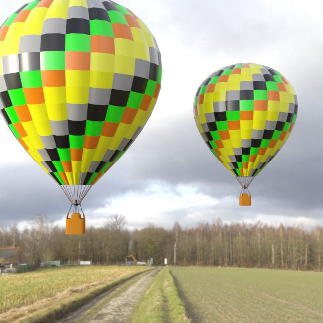 Hot Air Balloon 1 for DAZ Studio