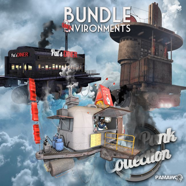 Dieselpunk bundle 1 : Environments
