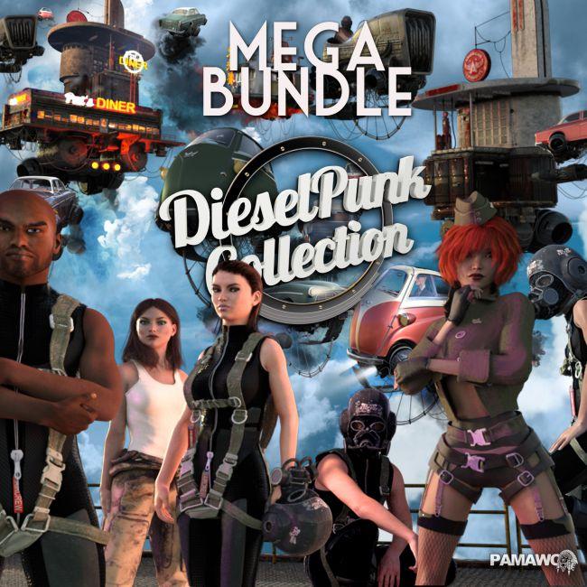 Dieselpunk MEGABUNDLE for Daz studio