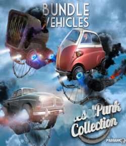 Dieselpunk bundle 3 Vehicles for Daz Studio 4.9