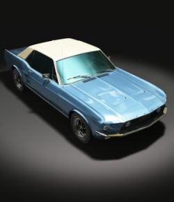 FORD MUSTANG 1967 GT- OBJ & FBX-EXTENDED LICENSE