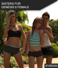 Sisters for Genesis 8 Female- Shapes and Controls