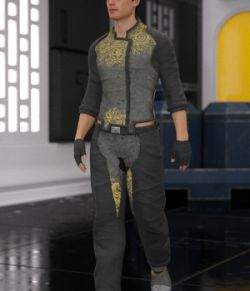 Soul Shards - Texture add on for Sci-Fi Settler for Genesis 8 Male