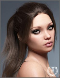 Linda Ponytail Hair for Genesis 3 and 8 Female(s)