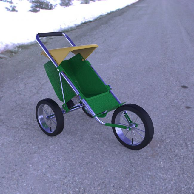 Stroller 2 for Poser
