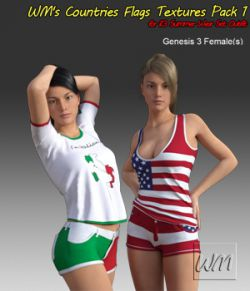 WM's Countries Flags Textures Pack 1  for i13 Summer Wear Set Outfit