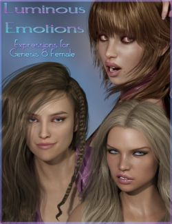 Luminous Emotions - Expressions for Genesis 8 Female