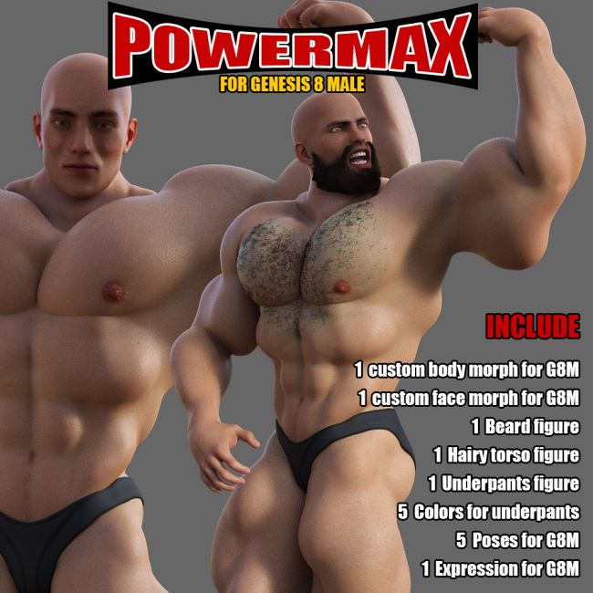 Power MAX for Genesis 8 Male