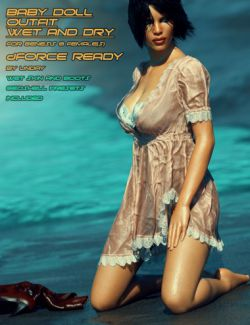 dForce HD Wet and Dry Baby Doll Outfit for Genesis 8 Female(s)