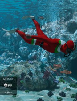 Freediver Wet Suit and Accessories for Genesis 8 Male(s)