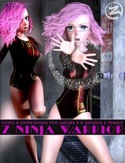 Z Ninja Warrior- Poses & Expressions for Sakura 8 and Genesis 8 Female