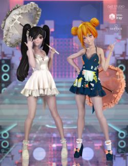 dForce Sweet Anime Outfit Textures