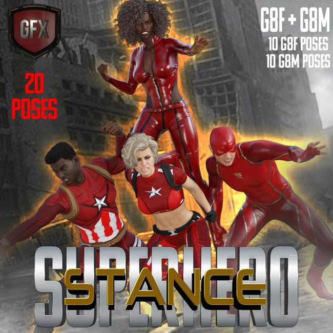 SuperHero Stance for G8F and G8M Volume 1