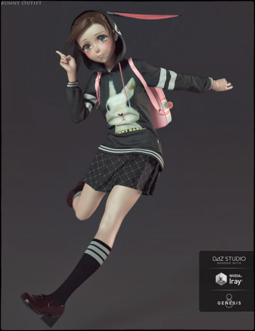 dForce Bunny Outfit for Sakura 8