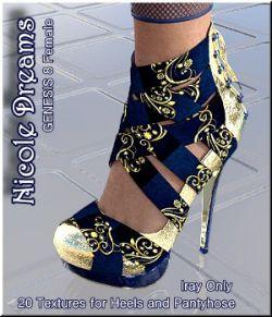 Nicole Dreams - 20 IrayPresets for Nicole Heels
