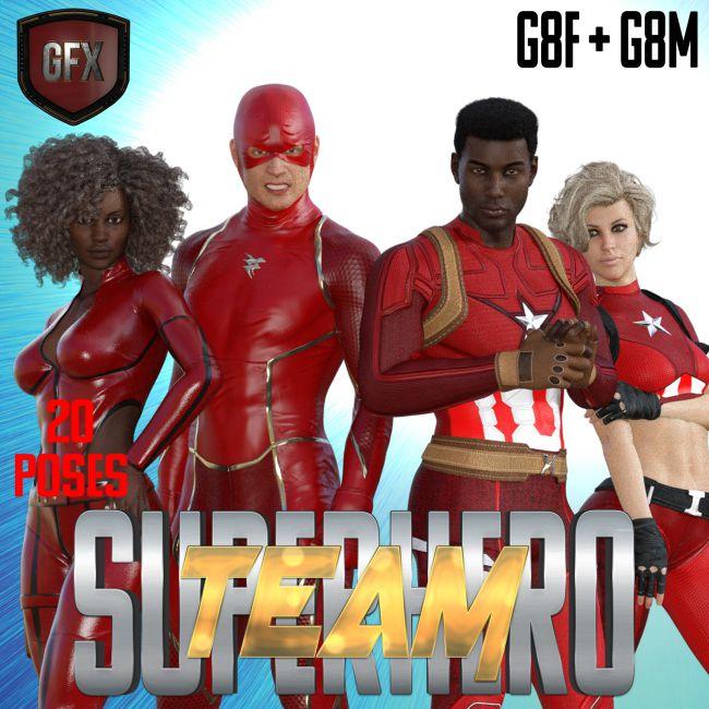 SuperHero Team for G8F and G8M Volume 1
