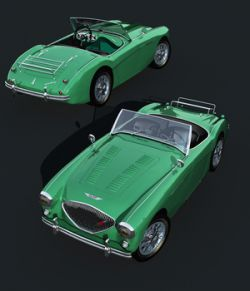 AUSTIN HEALEY 100-OBJ, FBX- EXTENDED LICENSE