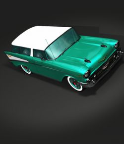 CHEVROLET NOMAD 1957-OBJ FBX- EXTENDED LICENSE