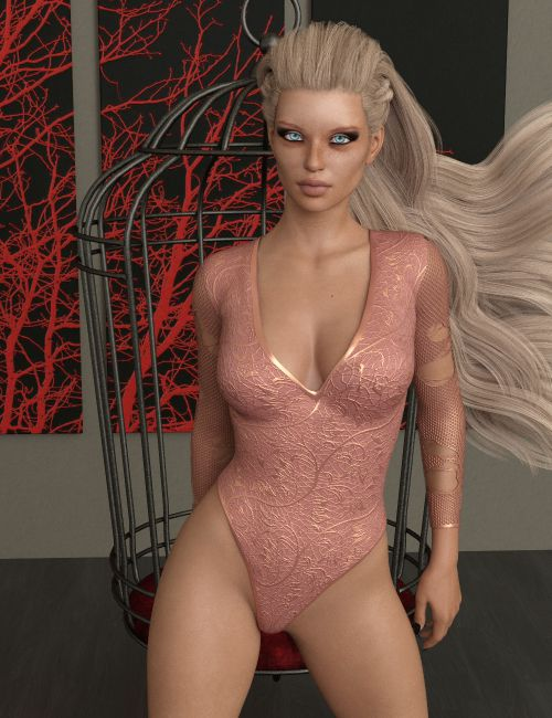 InStyle - X-Fashion Ribbed Bodysuit for Genesis 8 Females