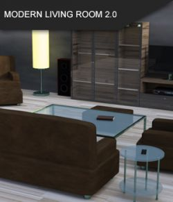 Modern Living Room 2.0 for Daz Studio
