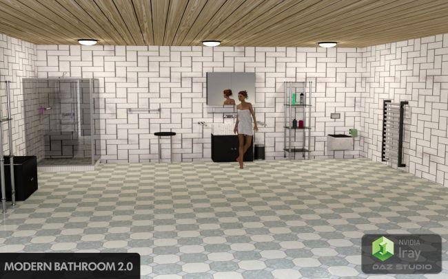 Modern Bathroom 2.0 for Daz Studio
