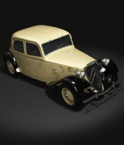 CITROEN TRACTION 1938 OBJ FBX- EXTENDED LICENSE
