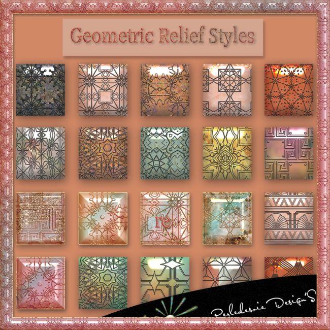 Geometric relief styles