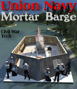 Union Navy Mortar Barge