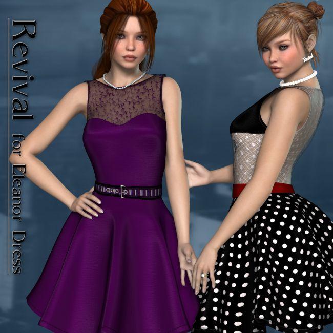 Revival for Eleanor Dress V4_Poser
