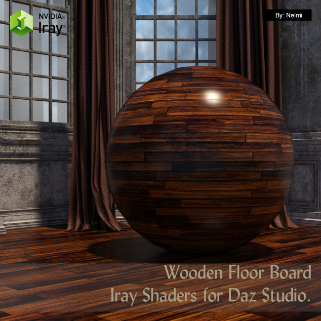 15 Floor Board Iray Shaders - Merchant Resource