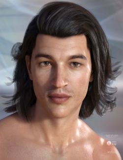 Osher Hair for Genesis 3 & 8 Male(s)