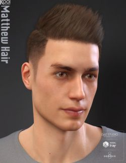 Matthew Hair for Genesis 8 Male
