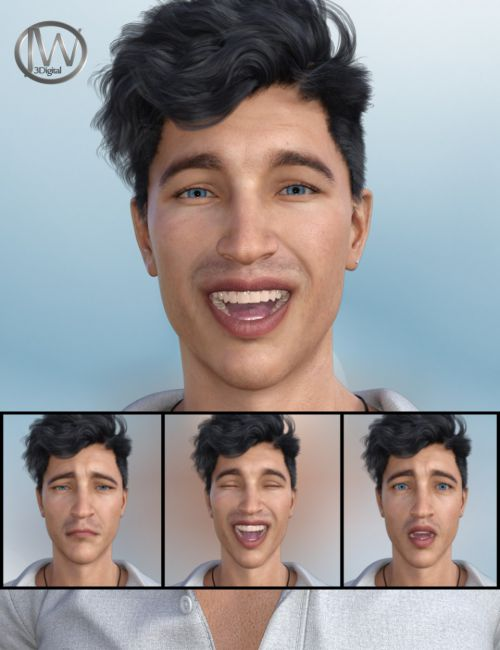 Emotional Guy - Expressions for Genesis 8 Male(s) and Owen 8
