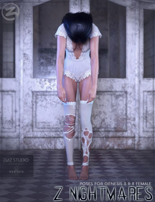 Z Nightmares - Poses for Genesis 3 and 8 Female
