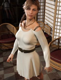 dForce Open Shoulder Dress for Genesis8 Female(s)