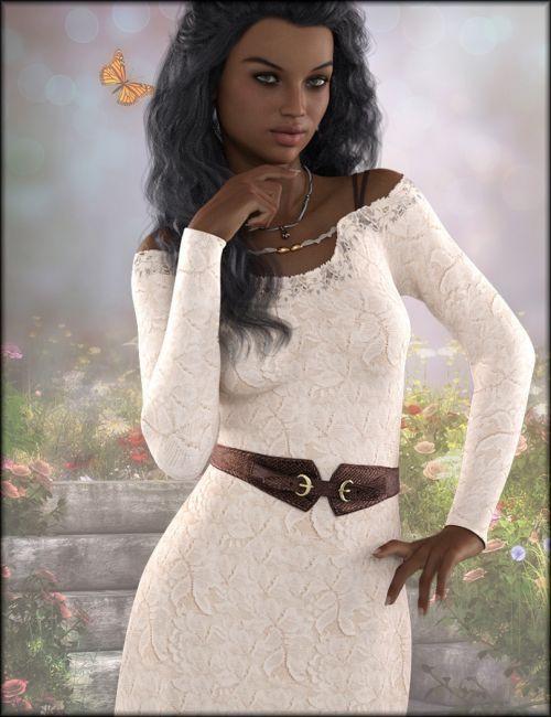 dForce Open Shoulder Dress Textures